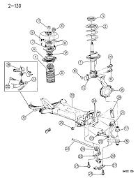 1994 chrysler lebaron gtc suspension front diagram 00000ccu