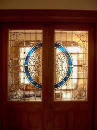 custom made stained glass door panels residence
