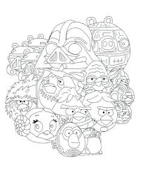 Angry Birds Star Wars Colouring Pages Angry Birds Star Wars Coloring