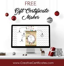 Gift Cards Maker Free Christmas Gift Certificate Template Customize Online Download