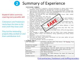 ... discrimination; 3. 2 Summary of Experience ...