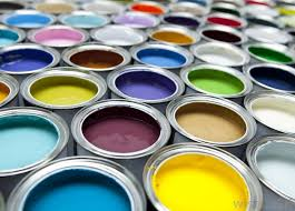occasionally house paint is used for painting murals