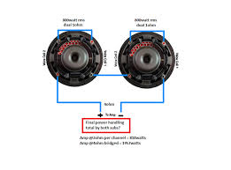 dual 2 ohm sub wiring diagram images dual voice coil subwoofer dual 2 ohm wiring diagram further bridge subwoofer