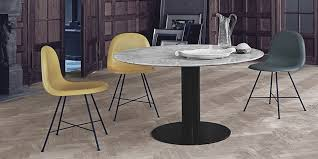 gubi 2 0 round dining table marble top white large