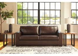 coburg 3 seater brown leather sofa bed