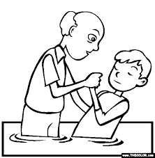 Small Picture Baptism Coloring Page Free Baptism Online Coloring