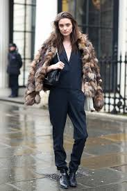 how to wear multi colored faux fur coat winter 2016 big tend london street
