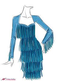 How To Draw Fringe Dress I Draw Fashion