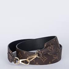 article picture louis vuitton adjustable monogram canvas leather strap 40 mm