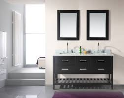 Glass Sink Bathroom Double Sink Bathroom Vanity Ideas Floating Rich Dark Wood Vanity
