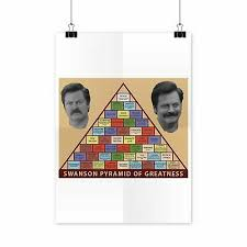Mcasting Parks And Recreation Poster Ron Swanson Pyramid