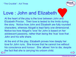 the crucible questions 70 love john and elizabeth ""