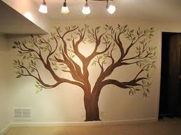 painting a tree mural  design decoration