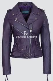 classic brando las m purple biker style motorcycle cruiser hide leather jacket