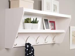 wall mounted coat rack with shelf
