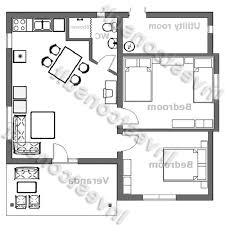 Small 2 Bedroom 2 Bath House Plans Simple One Story 2 Bedroom Custom Small Homes Plans 2 Home