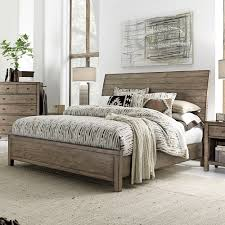 wooden sleigh bed.  Sleigh Tildon Wood Sleigh Bed In Mink And Wooden