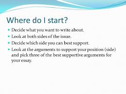 how to write a persuasive essay ppt video online where do i start decide what you want to write about