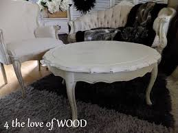 warming up white shabby chic coffee table