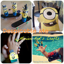 Cheap Crafts List Of Cheap Despicable Me Crafts For Kids Toilet Paper Rolls