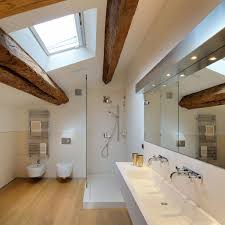 Bathroom Shower Design Bathroom Shower Beams Penthouse In Udine Italy By Menzo