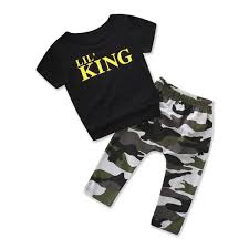 Amazon Com Lavany Toddler Outfits 2pc Kid Boys Letter Tops