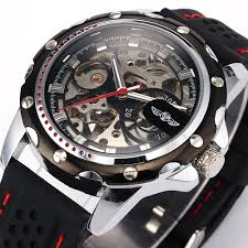 mens watch companies promotion shop for promotional mens watch famous brand new fashion mechanical watches skeleton watches rubber strap men automatic mechanical wrist watch relogio masculino