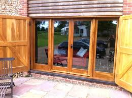 large wood doors exterior brown teak wood frame sliding patio glass door combination with large large