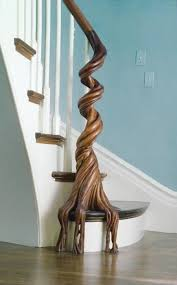 In eight hundred hours of careful work, he carved this banister for a  Nineteenth Century home in Cambridge, Massachussetts.