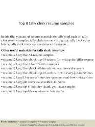 Tally Experience Resume Format