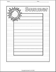 writing paper summer elementary abcteach writing paper summer elementary large image