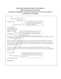 Business Letter Format Spacing Filename Ed Poor