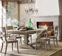gray dining table. Banks Extending Dining Table, Gray Wash Table