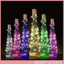Đèn LED dây 15 / 20 bóng hình nút bần trang trí chai rượu vang sáng tạo
