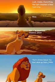 Look, Simba. Everything the light touches is New York City. Wow ... via Relatably.com
