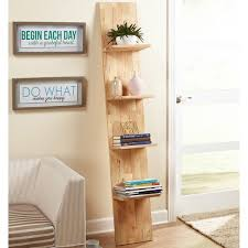 image ladder bookshelf design simple furniture. Simple Living Beanstalk Natural Rubberwood Ladder Shelf Image Bookshelf Design Furniture D