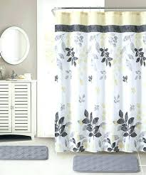 shower curtain sets with rugs and towels set rug yellow gray hooks bath shower curtain sets with rugs and towels