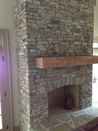 Cool stacked stone fireplace W92D