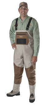 Caddis Waders Size Chart Caddis Mens Attractive 2 Tone Tauped Deluxe Breathable Stocking Foot Wader Does Not Include Boots