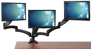 3 Monitor Display Stand Magnificent Triple Monitor Desk Mount Integrated Cable Management