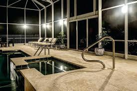 pool cage lighting orlando sunset