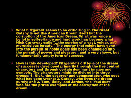 The Great Gatsby Corruption Of The American Dream Best of Corruption Of The American Dream In The Great Gatsby Essay Research