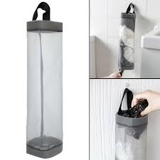 details about plastic bag holder dispenser hanging storage garbage trash bag kitchen organizer