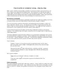 how to write an ytical essay step