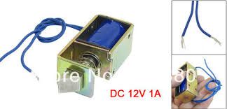 <b>DC 12V 1A 10mm</b> Stroke 15N Holding Force Open Frame Push ...