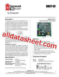 dact e3 datasheet pdf gamewell fci by honeywell dact e3 datasheet pdf gamewell fci by honeywell