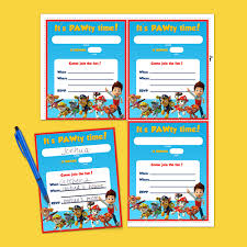 Birthday Party Evites Paw Patrol Birthday Party Invitations Nickelodeon Parents