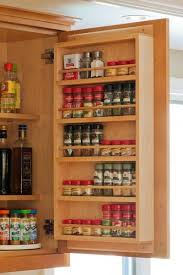 Astounding Cabinet Door Racks from Wood for Spice Rack Organization Ideas  with Concealed Kitchen Cabinet Door Hinges from Cabinet Decor Accents