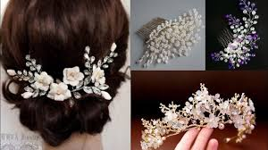 Tiara Design Ideas Beautiful Beaded Bridal Hair Accessories Design Ideas Pearl Hair Clips Tiara Design