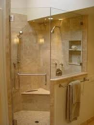 impressing shower stalls with seats at built in stylish corner home